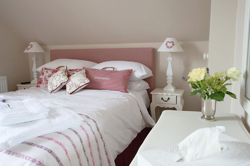 Detail of bed at Brindleys Boutique B&B