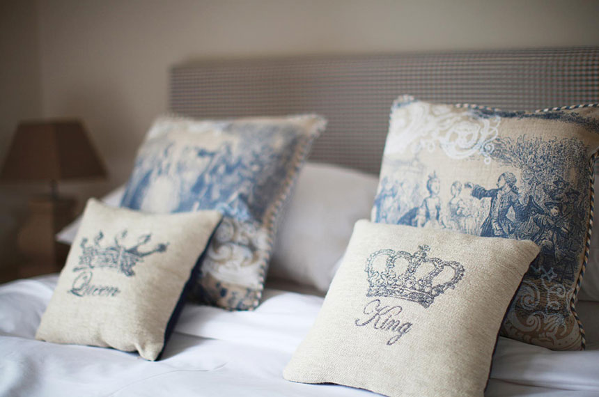French style pillows at Brindleys in Bath